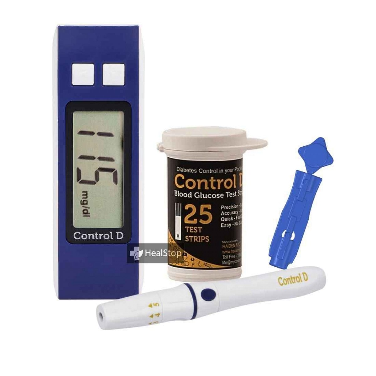 Diabetes Management Glucometer Kit - Blue