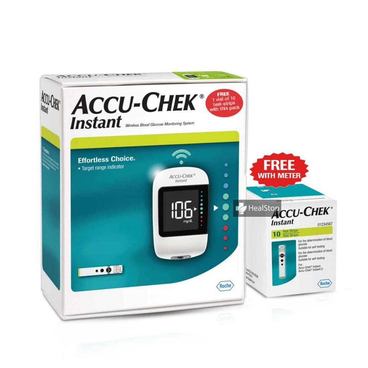 Glucometer Instant  With 10 s Strips