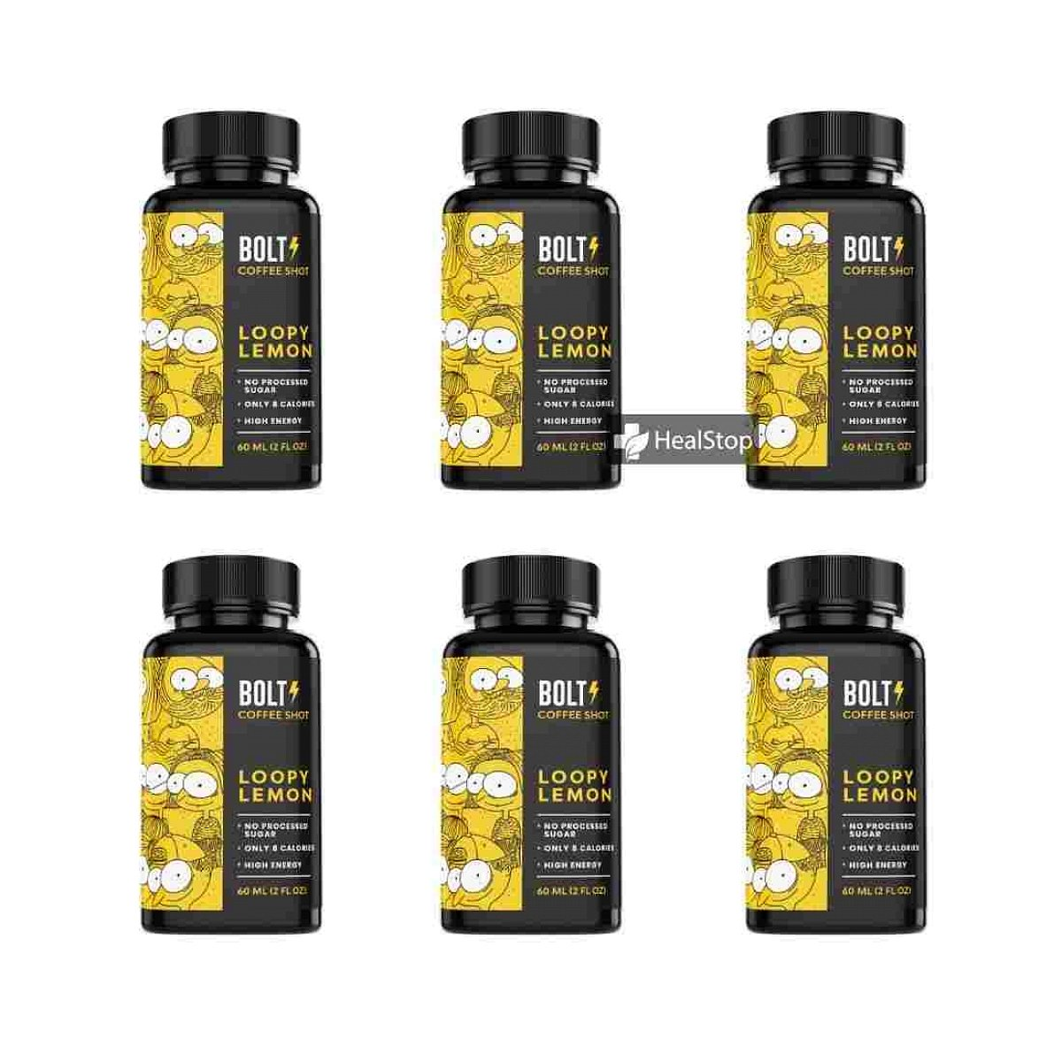 Bolt Coffee Shot - Loopy Lemon (Pack of 6)