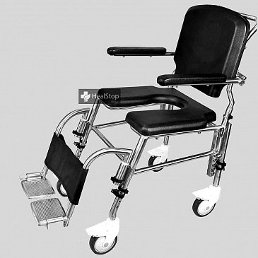 SAS100 Attendant  Propelled Commode Wheelchair