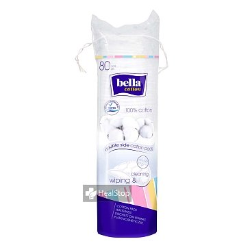 BELLA COTTON PADS BLUE 80 PCS(Pack of 2)