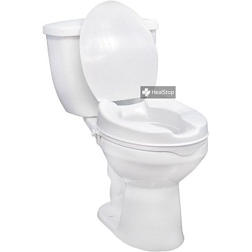 Elevated Commode Seat With Lid 4 Inches 120655
