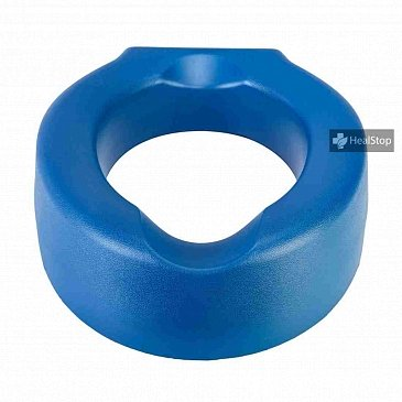 Deluxe Padded 4 Inches Raised Toilet Seat - Blue