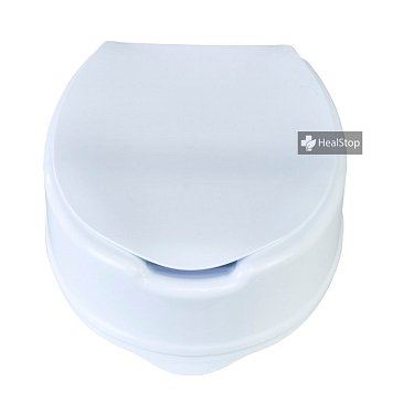 6 Inches Raised Toilet Seat with Lid - White