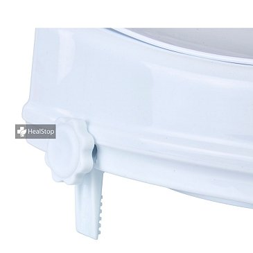 4 Inches Raised Toilet Seat with Lid - White