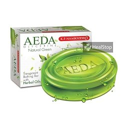 AEDA Glycerine Bathing Bar- Natural Green- 75gm (Pack of 4)