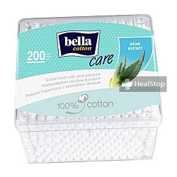 BELLA COTTON BUDS WITH ALOE VERA EXTRACT PLASTIC BOX 200 PCS