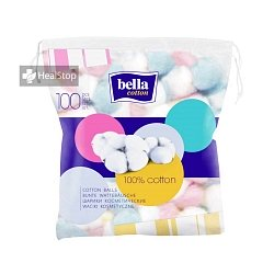 BELLA COTTON COSMETIC BALLS COLOURED 100 PCS
