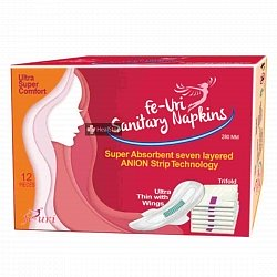 Fe Uri Sanitary Napkins 12 Pieces