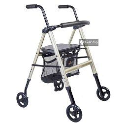 Metalic Champagne Aluminium Foldable Walker - M200MC