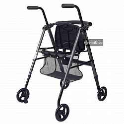 Metallic Graphite Aluminium Foldable Walker - M200MG
