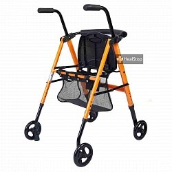 Metallic Orange Aluminium Foldable Walker - M200MO
