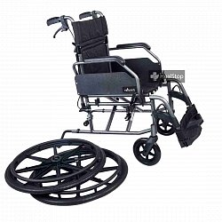 24 Inches Premium Wheelchair - M602MG - Metalic Graphite