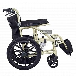 18 Inches Deluxe Wheelchair - M603MC - Metallic Champagne