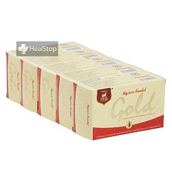 Mysore Sandal Gold Soap (Pack of 5)