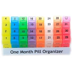 One Month Pill Organizer