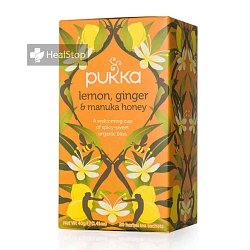 PUKKA Lemon Ginger & Manuka Honey Tea- 20 bags