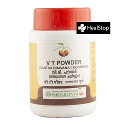 Vaidaratnam Tooth Powder, 50gm